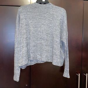 Long sleeve Gray Rigid blouse